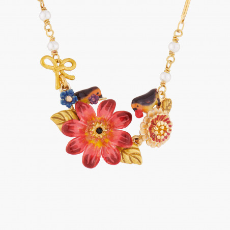 Bracelet fleur, cerises et verre taillé