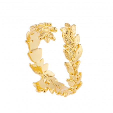 Crocodile and tropical flower semi rigid bracelet (S)