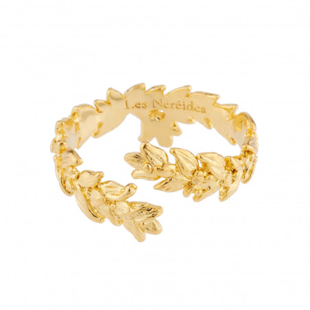 Crocodile and tropical flower semi rigid bracelet (M)