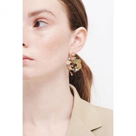 Collier mutli pierres et ébullition de perles dorées