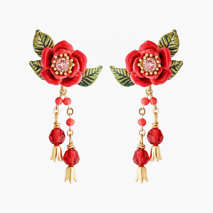 Boucles D'oreilles Pendantes Boucles D'oreilles Tiges Boutons De Roses Et Pampilles120,00€ AMAR104T/1Les Néréides