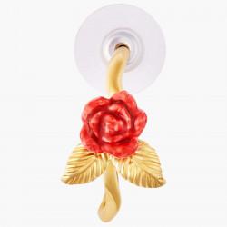 Boucles D'oreilles Creoles Créoles Tiges Bouton De Rose Et Feuilles Dorées80,00€ AMAR105T/1Les Néréides