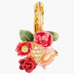 Boucles D'oreilles Dormeuses Dormeuses Boutons De Roses Sur Treillis90,00€ AMAR106D/1Les Néréides