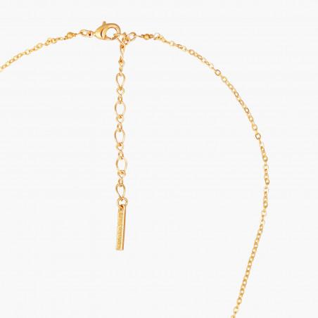 Sautoir nœud, perle bicolore et d'eau douce et pampille