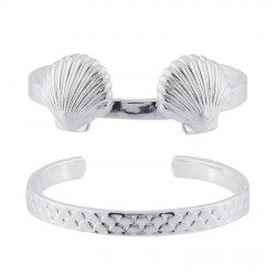 Double Bangle With Shells...
