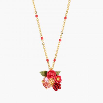 Colliers Pendentifs Collier Pendentif Bouquet De Roses Sur Treillis95,00€ AMAR304/1Les Néréides