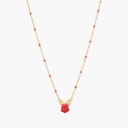 Colliers Pendentifs Collier Pendentif Bouton De Rose Et Feuilles Dorées80,00€ AMAR306/1Les Néréides