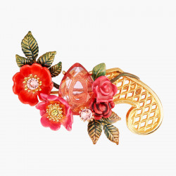 Antique And Wild Roses Brooch