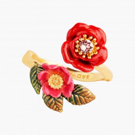 Boucles d'oreilles chat coquet et pierre rose