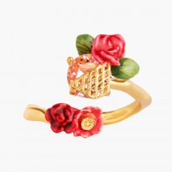 Bagues Ajustables Bague Ajustable Roses Sauvages Sur Treillis Dorés95,00€ AMAR603/1Les Néréides