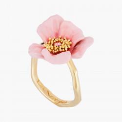 Anillo Ajustable Rosa En Flor