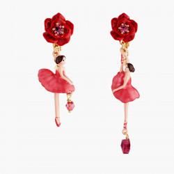 Boucles D'oreilles Clip Boucles D'oreilles Clip Asymétriques Ballerine Et Bouton De Rose90,00€ AMDD108C/1Les Néréides