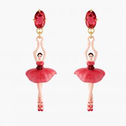 Boucles D'oreilles Pendantes Boucles D'oreilles Tiges Ballerine Et Bouton De Rose95,00€ AMDD115T/1Les Néréides
