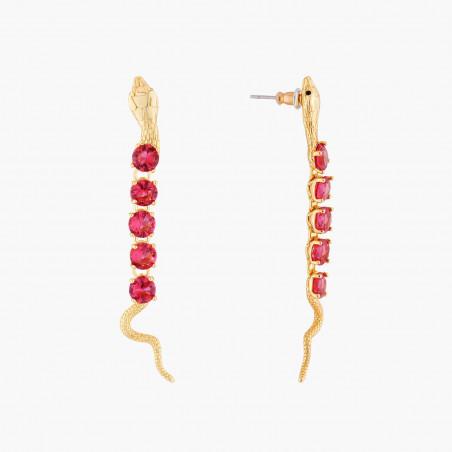 Boucles d'oreilles ébullition de perles dorées et perle d'eau douce