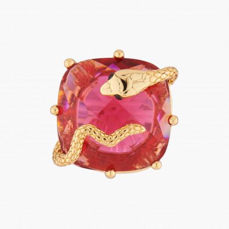 Bracelet pierre noire et ébullition de perles dorées