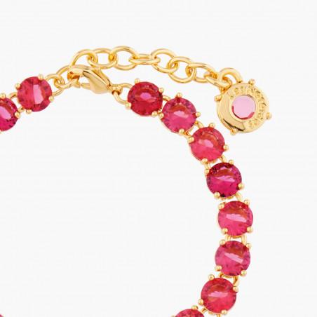 Bague pierre tricolore et perles dorées