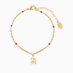 Coral Charms Bracelet