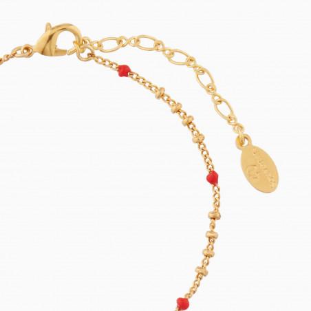 Bracelet oiseau, cerises et pampilles