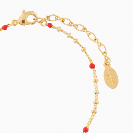 Birds on a branch of cherry tree and charms double rows couture necklace