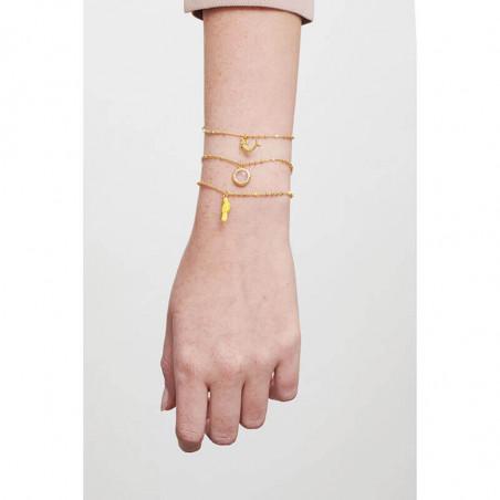 Bracelet nœud, perle bicolore et pampilles