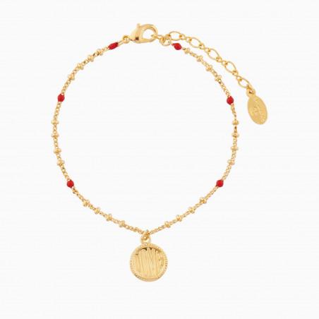 Bracelet fleur et oiseaux tropicaux