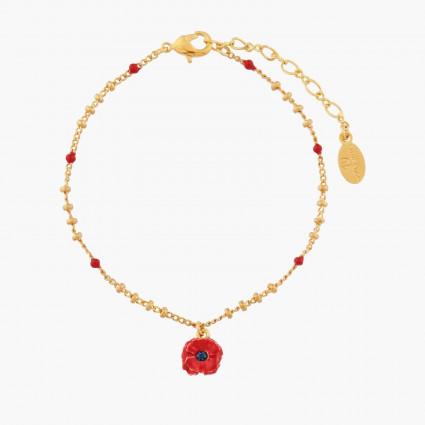Bracelets Fins Bracelet Pendentif Coquelicot55,00€ AMSO217/1Les Néréides