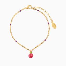 Raspberry Charms Bracelet