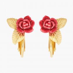 Boucles D'oreilles Clip Boucles D'oreilles Clips Boutons De Roses Et Feuilles Dorées70,00€ AMAR108C/1Les Néréides