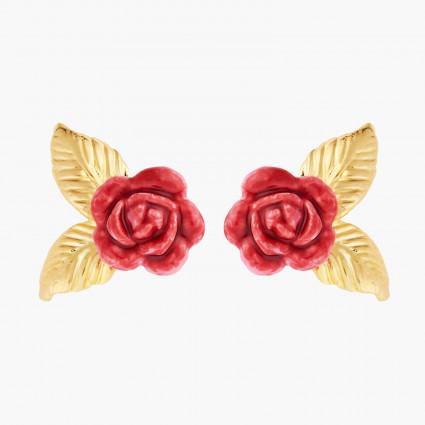 Boucles D'oreilles Tiges Boucles D'oreilles Tiges Boutons De Roses Et Feuilles Dorées70,00€ AMAR108T/1Les Néréides