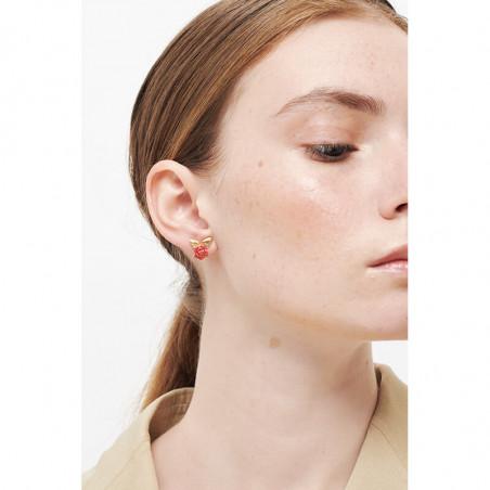 Boucles d'oreilles ballerines asymétriques tie and dye