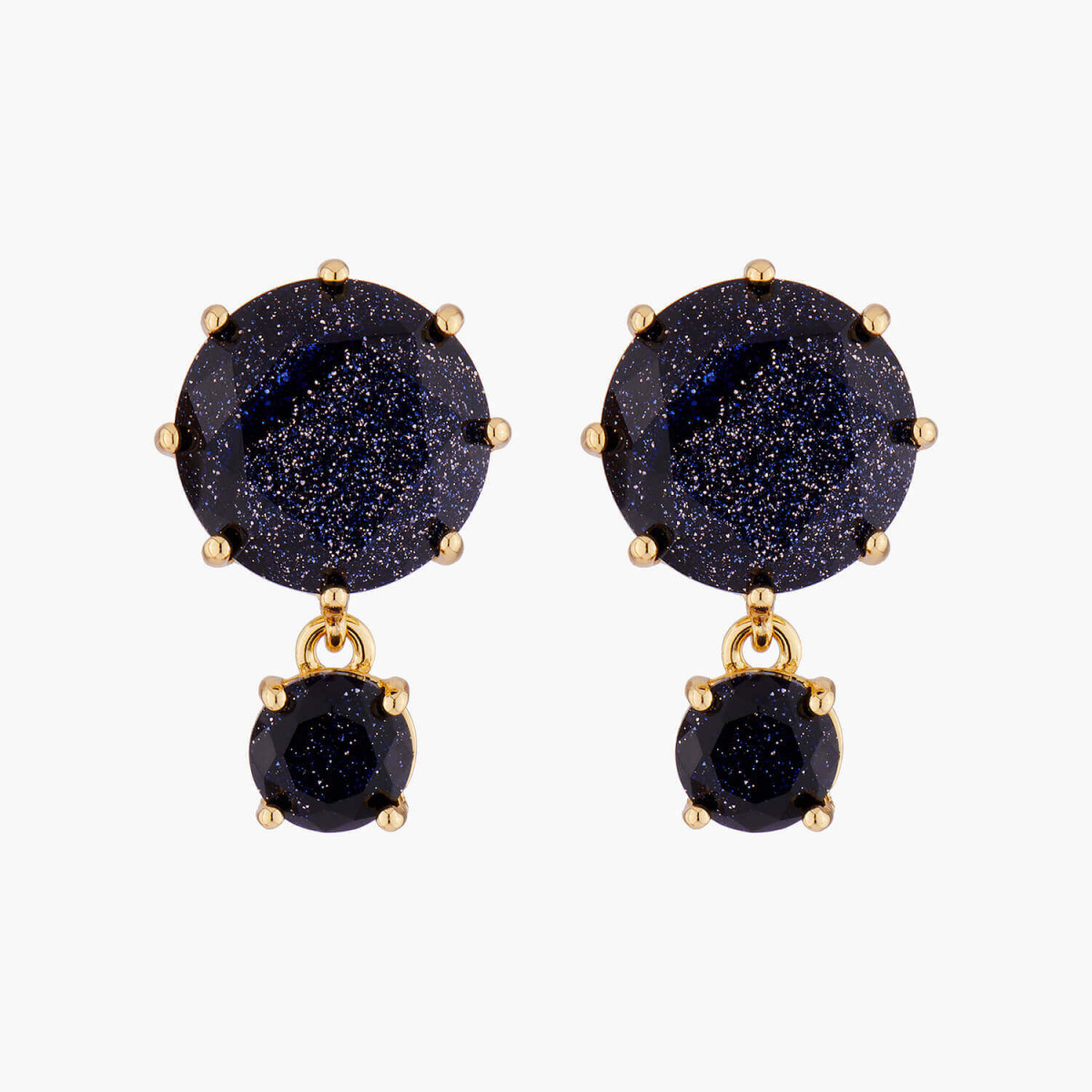 Ladybird and short chain clip earrings