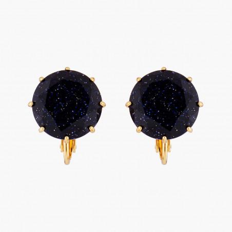 Boucles d'oreilles clip petite coccinelle, chaînes et petit cœur