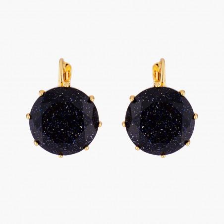 Boucles d'oreilles clip marguerite, coquelicot et chaînes