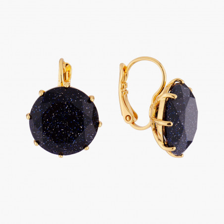 Boucles d'oreilles clip Fée et pierre reconstituée