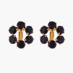 Boucles D'oreilles Clip Créoles Clip 6 Pierres La Diamantine Bleu Nuit Pailleté80,00€ AMLD142C/1Les Néréides