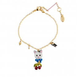 Bracelets Fins Bracelet Petite Tête De Chat, Cerises Et Petites Pampilles