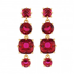 Earrings With 4 Garnet...