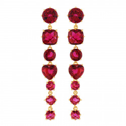 Earrings With 7 Garnet...