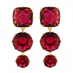 Earrings With 3 Garnet...