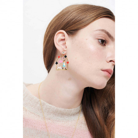 Eagle owl earrings