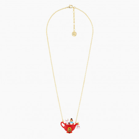 Collier transformable hibou grand Duc sur sa branche feuillue