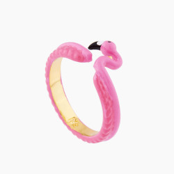 Pink Flamingo Adustable Ring