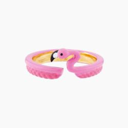 Bracelet jonc chien coquet et pierre fuchsia