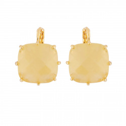 Citrine Yellow Square Shape...