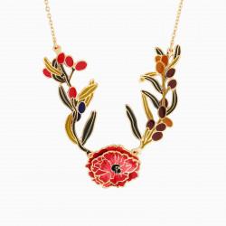 Pink flower clip earrings