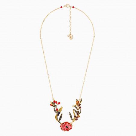 Pink flower French hook earrings