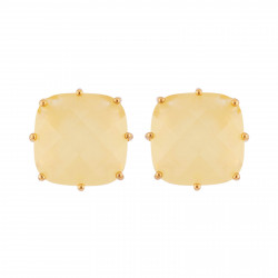Yellow Citrine Square Shape...