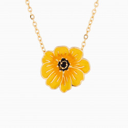 Yellow Cosmos Pendant Necklace