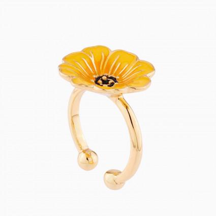 Boucles d'oreilles clip fleur fuchsia