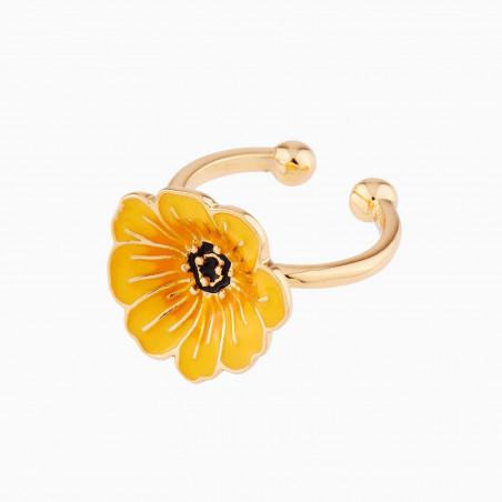 Fuchsia flower French hook earrings